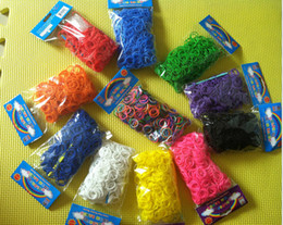 Wholesale Thanksgiving Rainbow Loom - New Rainbow Loom bands 300pcs Rubber Bands Free shipping