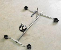 Wholesale Dog Cuffs Female - 1 sets Black Bondage frame dog slaves devices bound toys BDSM ( handcuffs shackles + ankle cuffs + collor )