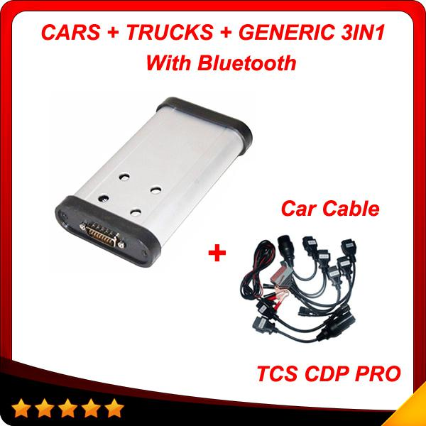 2015.3 New designed cdp+ pro + car cables Hot auto diagnostic tool tcs cdp pro plus 3in1 with Bluetooth free shipping