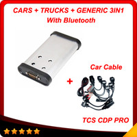 Wholesale tcs cdp pro plus - 2015.3 New designed cdp+ pro + car cables Hot auto diagnostic tool tcs cdp pro plus 3in1 with Bluetooth free shipping
