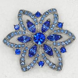 12 unids / lote venta al por mayor marquesa cristal rhinestone dama de honor del banquete de boda flor pin broche ropa adornos broches C763 desde fabricantes