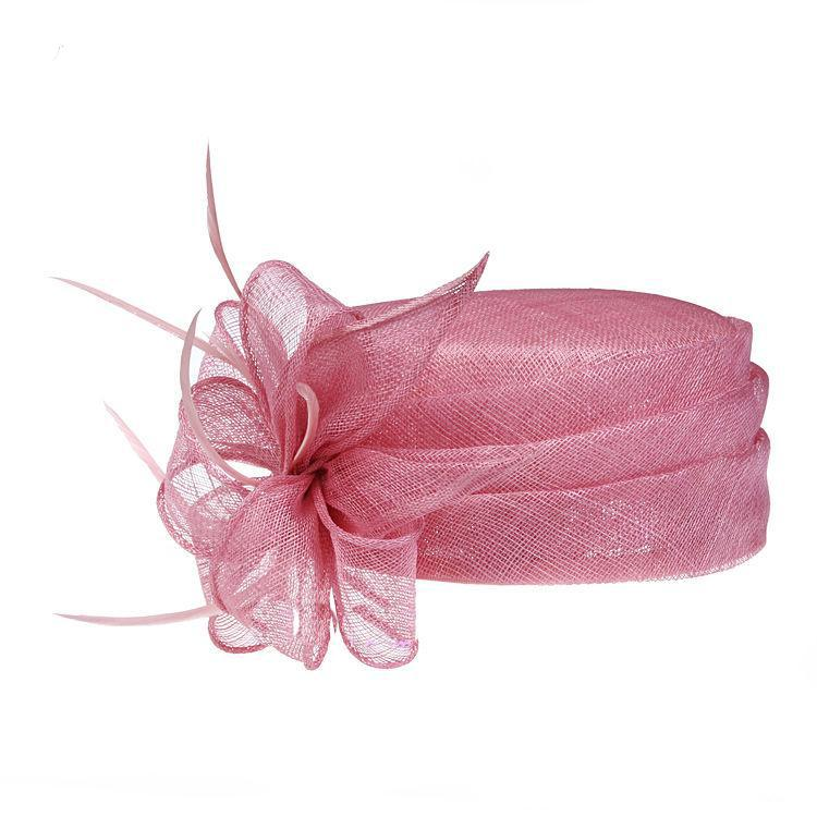 Pale Pink Fascinator Hats Sinamay Hat For Weddings Hair Fascinators ... fe48d87b110
