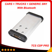 Wholesale New Tcs Cdp Pro Plus - 2017 New designed Auto CDP+ with bluetooth OBDII 2014 Release2 tcs cdp Hot selling CDP Pro for Cars Trucks Generis free shipping