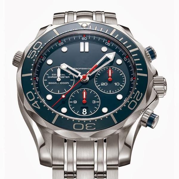 Venda quente de alta qualidade relógio de luxo dos homens relógio, relógio de pulso de quartzo cronômetro de aço inoxidável relógio OM23