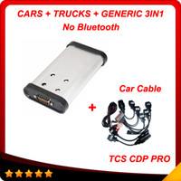 Wholesale Black Cdp Pro Plus - 2014.2 newest version Full Package Black tcs cdp pro CAR TRUCK Generic 3 in 1 Auto CDP+ Pro with 8 car cables Plus DHL Free Shipment