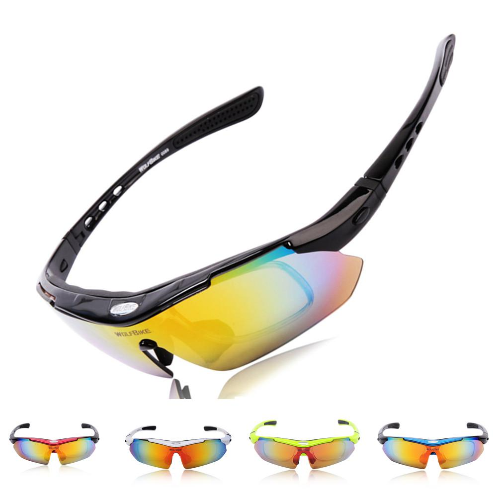 7c180e2e312 WOLFBIKE UV400 Polarized Sunglasses Safety Eyewear Goggle For Sports MTB  Road Mountain Cycling Riding Bicycle Bike 5 Lens H10674 Cycling Sunglasses  Running ...