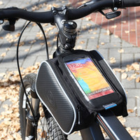 Wholesale Top Tube Bag Phone - Roswheel Waterproof 1.8L Phone Bag Cycling Road Bike Bicycle Front Top Tube Frame Pannier Bag Pouch for 5.5 H10476