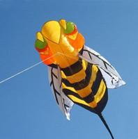 abejas juguetes blandos al por mayor-¡¡Envío gratis!! Los niños de la cometa suave de la abeja de los 2.8m comen los juguetes al aire libre cometa del poder, cometa del deporte / cometa del truco / cometa del poder