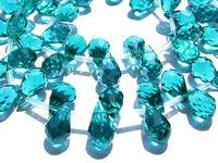 Wholesale Dark Green Jewelry Sets - high quality crystal like swarovski drop onion faceted dark green assortment jewelry beads 8x15mm 5strands 250pcs