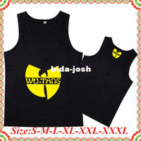 Wholesale Cheap Women S Vest - Wholesale-Online Stock Free Shipping Cheap Brand Black Color Wu Tang Promotion Man Woman Tank Top Vest