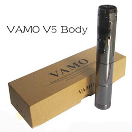 Wholesale Lcd Variable Voltage Kit - VAMO V5 Body mod clone with Variable Voltage 3v~6v LCD Display for e cig vamo 5 kit ss vv vw mod ego ksd with gift box via DHL