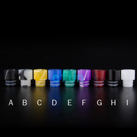 Wholesale Dripping C - 510 Colorful Acrylic Drip Tips Wide Bore Drip Tip ego Atomizer Mouthpieces for CE4 CE5 Protank EVOD EGO C electronic cigarette Atomizer