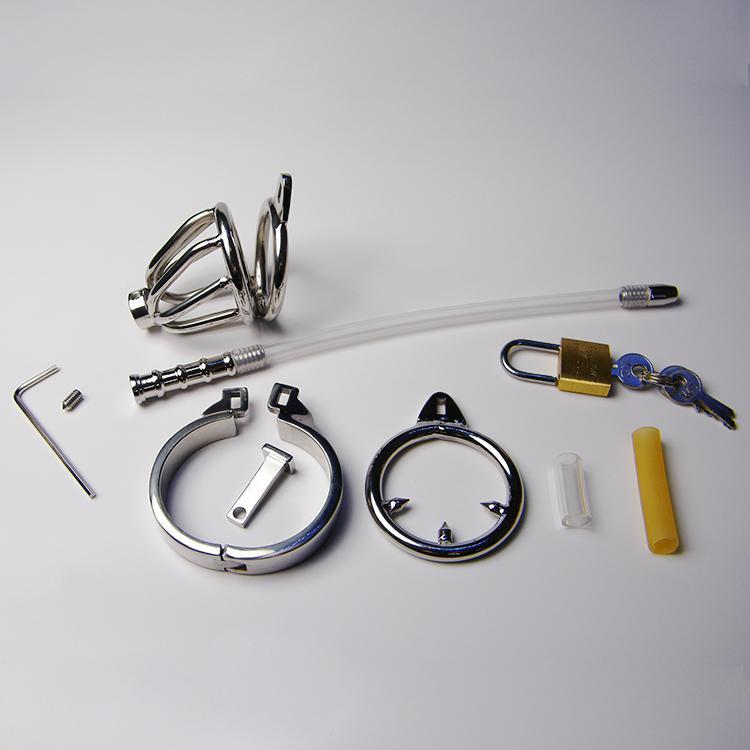 Bdsm anti-separtion prodotti giocattolo del sesso gioco adulti penis dick belt lock gli uomini dispositivo di castità maschile anelli in acciaio inox metallo