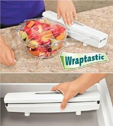 Wholesale Foil Dispenser - Free shipping Wraptastic Food Wrap Dispenser Aluminum Foil Wax Paper Cutter 24pcs lot