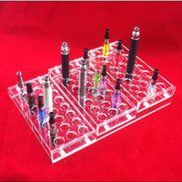 Wholesale Ego Removable - Acrylic e cig display showcase show shelf ego holder rack for ecig electronic cigarette stand shelf holder big case removable By DHL