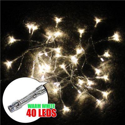 40 LED Cordas Mini Luzes de Fadas 3XAA Bateria Operado Branco / Quente Branco / Azul / Amarelo / Verde / Roxo Luzes de Natal Luz de Natal