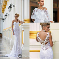 Wholesale Dalia Dress - Dimitrius Dalia 2017 Stunning Bridal Collection White Spaghetti Straps Floor Length Beading Lace Wedding Dresses with Wrap EM02298