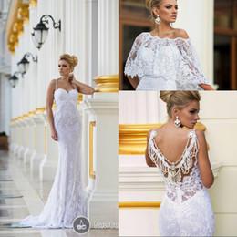 Wholesale Dalia Dress - Dimitrius Dalia 2017 Stunning Bridal Collection White Spaghetti Straps Floor Length Beading Lace Wedding Dresses with Wrap EM02298