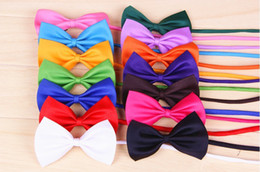 Wholesale Dog Puppy Collars - 50 PCS Fashion Cute Cat Dog Puppy Pet Bow Neck Tie Necktie Gift Acccessory Collar Adjustable