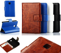 Wholesale Lg Optimus L5 Dual - Crazy Horse Patten PU Leather Wallet Stand Case With Card Slots For LG G3 D850 L90 D410 Optimus L3 L5 L9 L7 II E430 E460 Dual P715