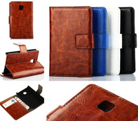 Wholesale Cases For L3 Ii - Crazy Horse PU Leather Wallet Case Cover with Stand Holder Card Slots For LG G3 D850 L90 D410 Optimus L3 L5 L9 L7 II E430 E460 Dual P715