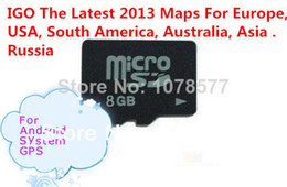 Wholesale Gps Igo Map - gps maps for windows ce IGO map sd card us 8GB with lastest GPS maps Europe, USA, South America, Australia, Asia For Wince Android system