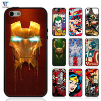 Wholesale Iphone 4s Iron Man - Super man 2 Comics Superheroes Iron Man X-men Case For iphone 5s Case for iphone 4 4s Cover Soft TPU Edges + Hard PC Back Hybrid