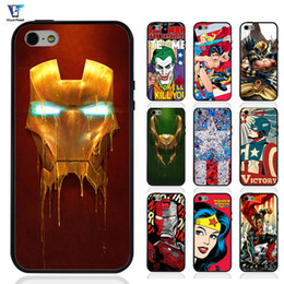 Wholesale Iphone Superhero Cases - Super man 2 Comics Superheroes Iron Man X-men Case For iphone 7 Case for iphone 8 Cover Soft TPU Edges + Hard PC Back Hybrid