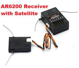 Wholesale 6ch Rc Receiver - Remote Receiver 2.4GHz 6CH AR6200 RC Satellitic Receiver Support DX6i JR DX7 DSM2