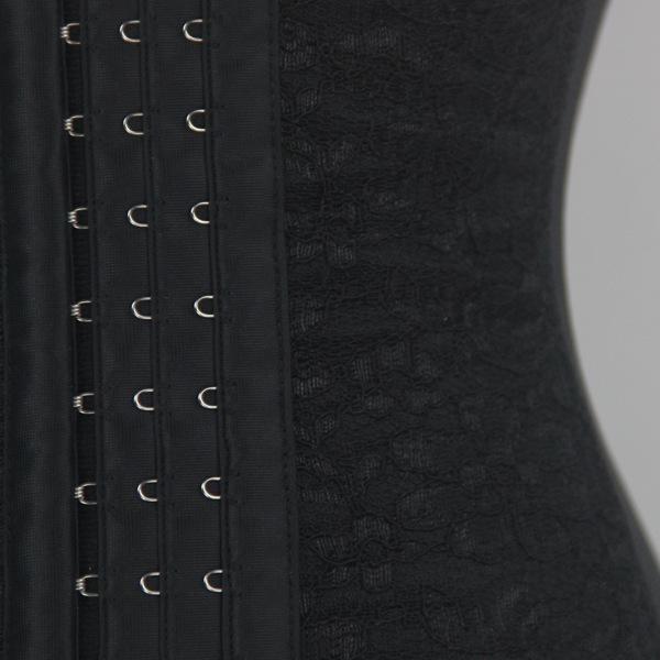 Plus Size Vita Trainer Corsetto Acciaio Disossato Vita Cincher Body Shaper Pizzo Vita Allenamento Corsetti Tight Lacing Dimagrante Shaperwear