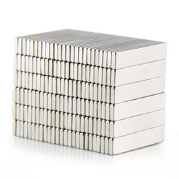 Wholesale Magnetic Sales - Free shipping Hot sale wholesale 50pcs super magnetic Permanent Cuboid 25x5x1.5mm N50 Rare Earth Neodymium Magnet