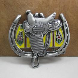 Wholesale western women belts - BuckleHome saddle belt buckle western belt buckle with pewter finish FP-02230-1 free shipping