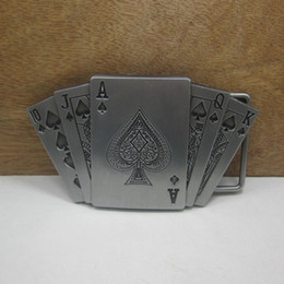 smoothing card 2019 - BuckleHome Fashion playing card belt buckle with pewter finish plating FP-02234 free shipping discount smoothing card