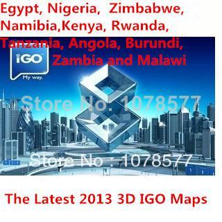Gps Igo Map South Africa Egypt Nigeria Zimbabwe - Map of egypt 2017