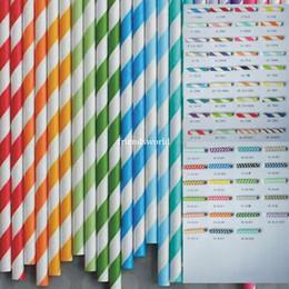 $enCountryForm.capitalKeyWord Canada - Via Fedex EMS, Stripe Paper Drinking Straws Polka Dot Chevron Star For Party Decoration mixed Colors, 10000PCS