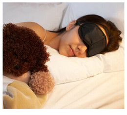 Wholesale Black Eyepatch - Cheap Black Eye Mask Sleep Mask Travle Sleepshade Game Eyepatch 50pcs lot RY1482