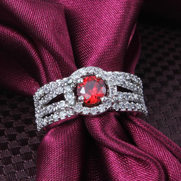 جودة عالية 18K الذهب مطلي عناصر سواروفسكي كريستال خاتم الزواج الأزياء والمجوهرات هدية جميلة جميلة الشحن المجاني