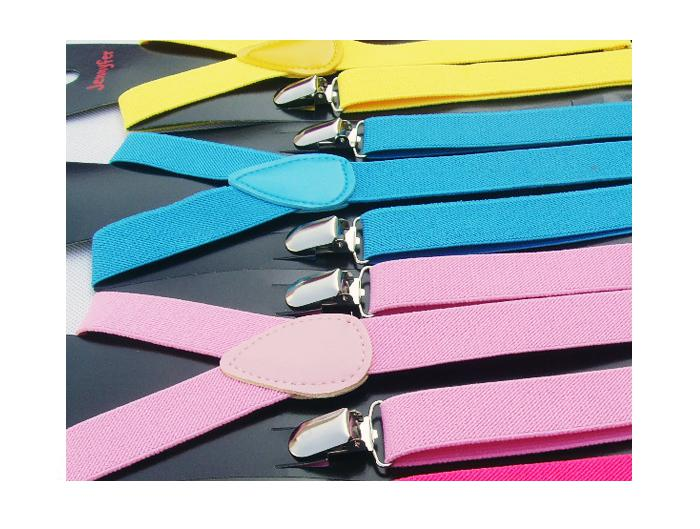 29 colors Unisex Clip-on Adjustable Braces Elastic Y-back Suspenders top quality factory price pet75 50pcs