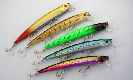 Lot 20 Leurres de pêche CRANKBAIT HOOKS 17g / 15.5cm