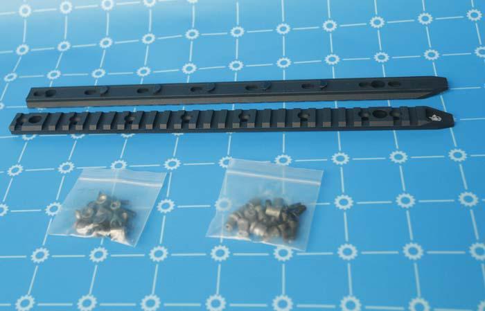 لوحة السكك الحديدية كاملة - KeyMod ل AIRSOFT URX4 13 و 14.5 بوصة السكك الحديدية BK / TAN شحن مجاني