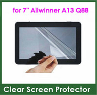 ingrosso allwinner a13 q88 compresse-5pcs Clear Screen Protector Schermo intero per Tablet PC da 7 pollici Allwinner A13 Q88 Dimensioni 173x105mm Pellicola protettiva