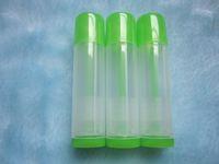 Wholesale Lip Gloss Tubes Wholesale - Wholesale - No05 100pcs 5ml clear+green empty Lipstick bottle Lip gloss container Lip balm tube Lipstick Lipgloss Lipbalm package