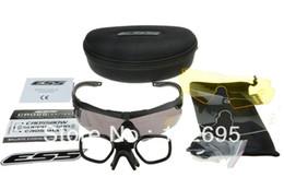 ess armbrustgläser Rabatt ESS Armbrustbrille mit polarisierter Outdoor Sports Army Kugelsichere Schutzbrille Sonnenbrille mit 3 Gläsern original im Einzelhandel erhältlich Ballistic Test Tactical