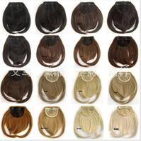 Wholesale Bang Fringe Hair Extensions - front bang hair bang extension clip in hair bang synthetic hair bang hair fringe