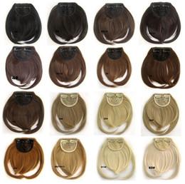 femme frange Clip dans les cheveux synthétiques bang soignée frange avant cheveux 1pc 18 couleurs disponibles ? partir de fabricateur
