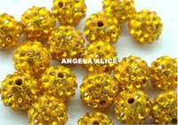 Wholesale Wholesale Shambala Necklace - 50pcs lot Simulated Diamond Polymer Clay Shambala Beads cheap beads Necklaces Pendants Diy Bracelet Woman Clothing Bags