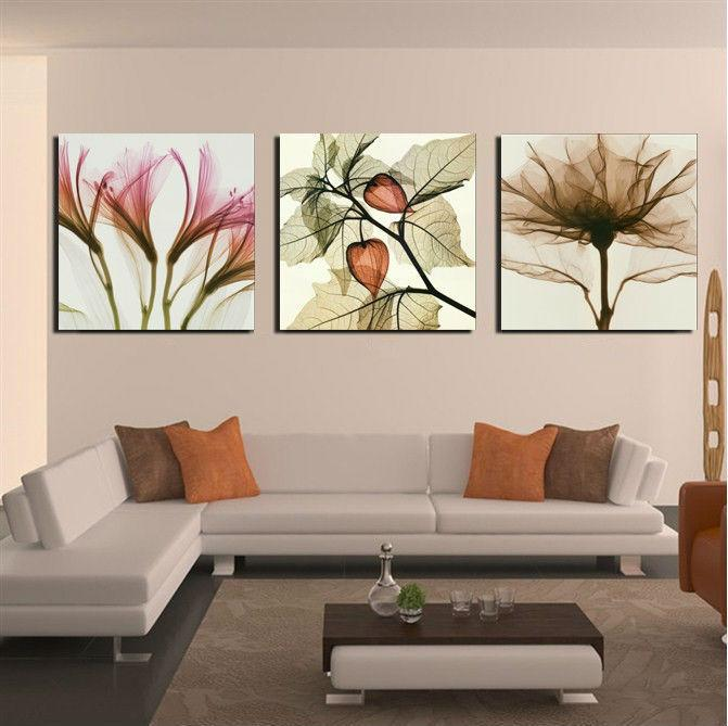 2017 3 Panels Living Room Decorative Canvas Oil Painting Modern Huge  Picture Tree Paint Print Art Romance Flower Wall From Lee1999, $28.95 |  Dhgate.Com Part 64