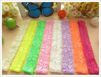Wholesale Youth Hair - 50pcs 1.2inch baby headband white elastic baby girl lace boutique headband youth binding headwear hair accessories
