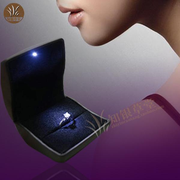 2018 The New Led Lights Engagement Ring Box Jewelry Box High Grade