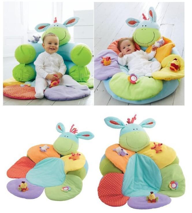 -Bleu Couleur ELC Blossom Ferme Sit Me Up Cosy- Bébé Play Mat Nest Infantile Siège Gonflable Canapé Kid's Toy, 2 couleurs pour les options